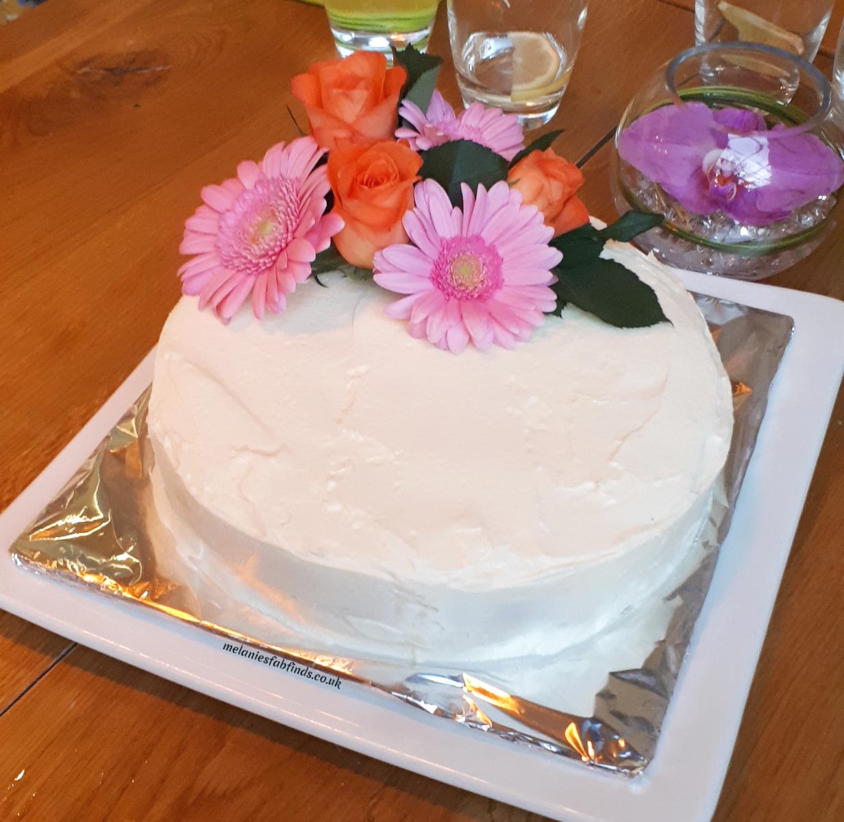 Easy Lemon And Elderfower Cake With Vanilla Butter Cream Melanie S